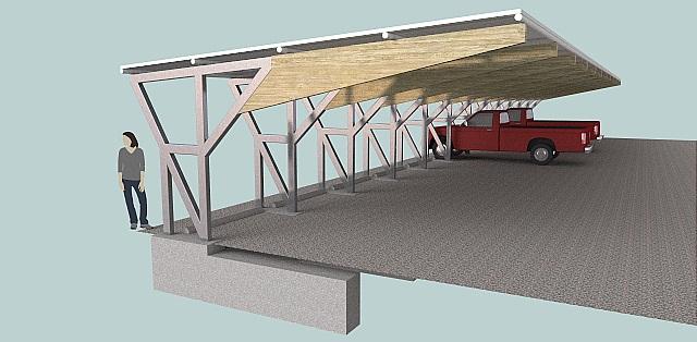 Solar Carport 3d Cad Model Using Sketchup